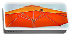 Portable Battery Charger featuring the digital art Joy On An Umbrella by Mindy Newman