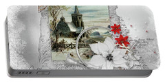 Portable Battery Charger featuring the digital art Joy To The World by Mo T