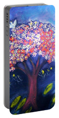 Portable Battery Charger featuring the painting Joy by Winsome Gunning