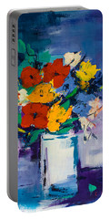 Bouquet Joyeux  Portable Battery Charger by Elise Palmigiani