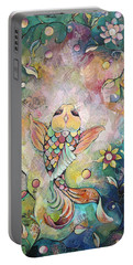 Joyful Koi I Portable Battery Charger by Shadia Derbyshire