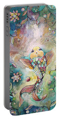 Joyful Koi II Portable Battery Charger by Shadia Derbyshire