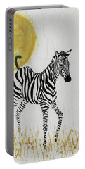 Portable Battery Charger featuring the painting Joyful by Stephanie Grant