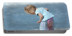 Portable Battery Charger featuring the photograph Joys Of Childhood by Fraida Gutovich
