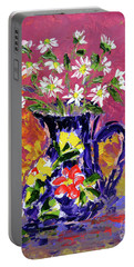 Jug Of Daisies Portable Battery Charger by Lynda Cookson