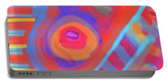 Portable Battery Charger featuring the painting Juicy Colored Abstract by Susan Stone
