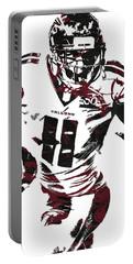 Julio Jones Atlanta Falcons Pixel Art 4 Portable Battery Charger