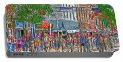 Portable Battery Charger featuring the photograph July 4th Color Guard by Trey Foerster