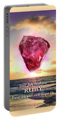 July Birthstone Ruby Portable Battery Charger