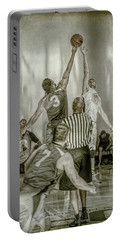 Portable Battery Charger featuring the photograph Jump Ball by Ronald Santini