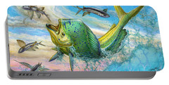Jumping Mahi Mahi And Flyingfish Portable Battery Charger