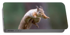 Jumping Red Squirrel Portable Battery Charger