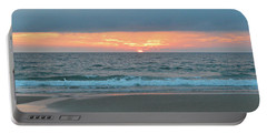 Portable Battery Charger featuring the photograph June 20 Nags Head Sunrise by Barbara Ann Bell