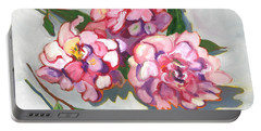 June Peonies Portable Battery Charger