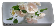 June Roses With Honeysuckle Portable Battery Charger by Louise Kumpf