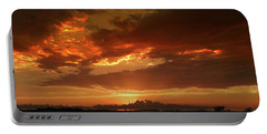 June Sunset Portable Battery Charger by Rod Seel
