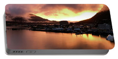 Juneau Sunset Portable Battery Charger by Russell Keating