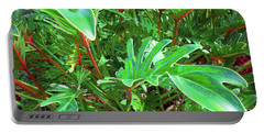 Portable Battery Charger featuring the photograph Jungle Greenery by Ginny Schmidt