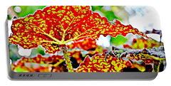 Portable Battery Charger featuring the photograph Jungle Leaf by Mindy Newman