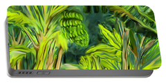 Portable Battery Charger featuring the digital art Jungle Path by Jean Pacheco Ravinski