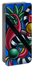Colorful 3d Abstract Art Painting - Multicolored Original Artwork - Tropical  Portable Battery Charger