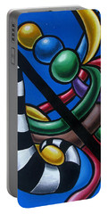 Original Colorful Abstract Art Painting - Multicolored Chromatic Artwork Painting Portable Battery Charger