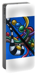 Jungle Stripes 3 - Abstract Paintings Portable Battery Charger