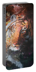 Portable Battery Charger featuring the painting Jungle Tiger by Sherry Shipley