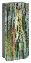 Juniper Leaves - Shades Of Green Portable Battery Charger by Ben and Raisa Gertsberg
