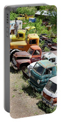 Junkyard Rainbow Portable Battery Charger by Suzanne Oesterling