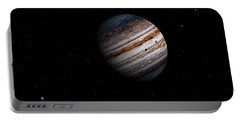 Jupiter And It 4 Major Moons Portable Battery Charger