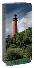 Portable Battery Charger featuring the photograph Jupiter Inlet Lighthouse by Laura Fasulo