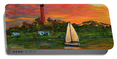 Jupiter Lighthouse Sunrise Alt Portable Battery Charger
