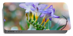 Portable Battery Charger featuring the photograph Just A Freesia by Lance Sheridan-Peel