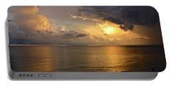 Just Another Spectacular Florida Summer Sunset Portable Battery Charger by Carol Bradley