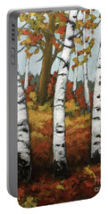 Just Birches Portable Battery Charger by Inese Poga