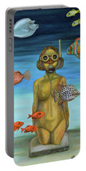 Just Breathe Portable Battery Charger by Leah Saulnier The Painting Maniac