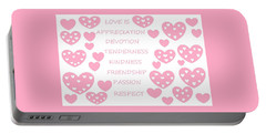 Just Hearts 3 Portable Battery Charger