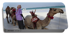 Just Married Camels Kenya Beach Portable Battery Charger