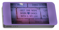 Just One More Moon Dance With You My Love Portable Battery Charger by Deborah Lacoste