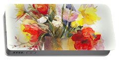 Portable Battery Charger featuring the painting Just Picked by Bonnie Rinier
