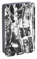 Portable Battery Charger featuring the painting Justice by Carol Rashawnna Williams