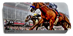 Justify Wins Preakness Portable Battery Charger