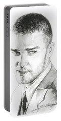 Justin Timberlake Drawing Portable Battery Charger
