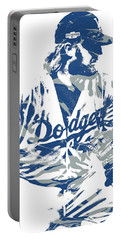 Justin Turner Los Angeles Dodgers Pixel Art 15 Portable Battery Charger