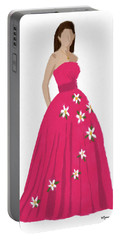 Portable Battery Charger featuring the digital art Justine by Nancy Levan