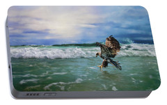 Juvenile Eagle At Sea Wildlife Art Portable Battery Charger by Jai Johnson