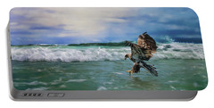 Juvenile Eagle At Sea Wildlife Art Portable Battery Charger
