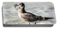 Juvenile Gull With Fish Portable Battery Charger