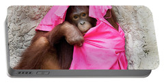 Portable Battery Charger featuring the photograph Juvenile Orangutan by John Black